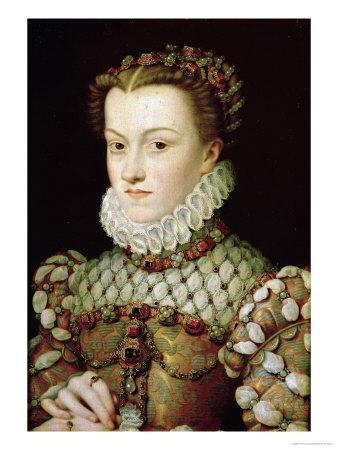 Portrait of Elizabeth of Austria Queen of France, circa 1570