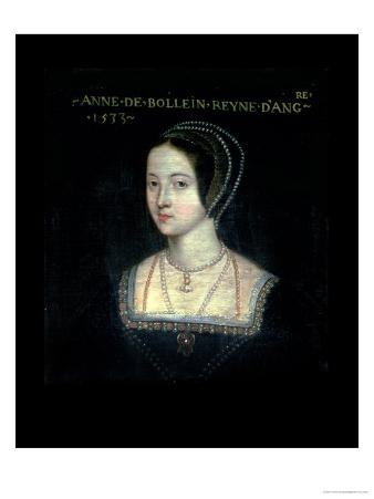 Portrait of Anne Boleyn Second Wife of King Henry VIII, 1533