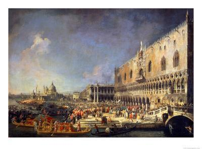 The Reception of the French Ambassador in Venice, circa 1740s