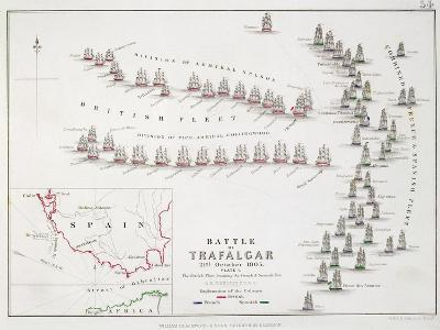The Battle of Trafalgar, 21st October 1805, the British Breaking the French and Spanish Line