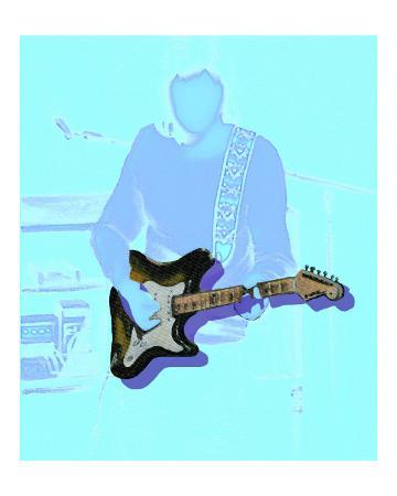 Neon guitar player