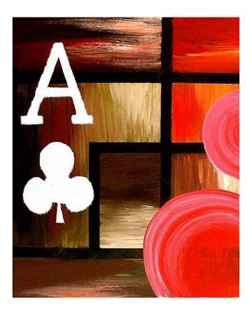 Abstract Red Ace Of Clubs