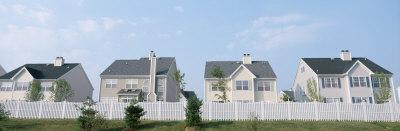 Houses in a Row, Dye Road, Plainsboro, New Jersey, USA