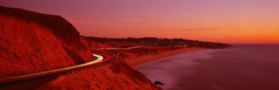 Pacific Coast Highway at Sunset, California, USA