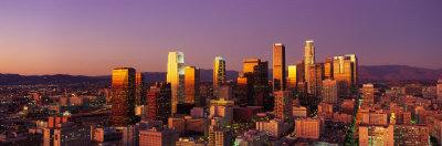 Skyline at Sunset, Los Angeles, California, USA
