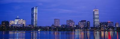 Night, Skyline, Back Bay, Boston, Massachusetts, USA