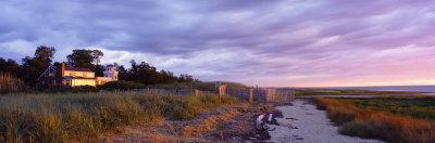 Beachside House, Water, Sunset, Cape Cod, Massachusetts, USA