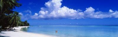Ocean, Water, Clouds, Relaxing, Matira Beach, Tahiti, French Polynesia, South Pacific, Island