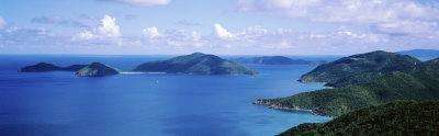 Water, Ocean, Panoramic View of an Island, Tortola, British Virgin Islands
