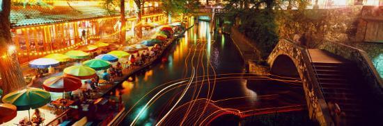 Night Evening Nightlife Riverwalk San Antonio Texas