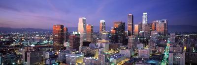 Night, Skyline, Cityscape, Los Angeles, California, USA