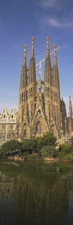 Low Angle View of a Cathedral, Sagrada Familia, Barcelona, Spain