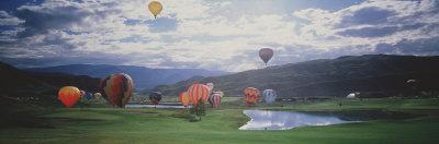 Hot Air Balloons, Snowmass, Colorado, USA