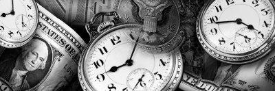 Clocks and Dollar Bills