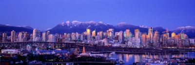 Twilight, Vancouver Skyline, British Columbia, Canada