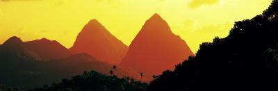 Sunset, Twin Pitons, St. Lucia, West Indies