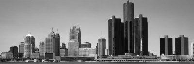 Skyscrapers in the City, Detroit, Michigan, USA