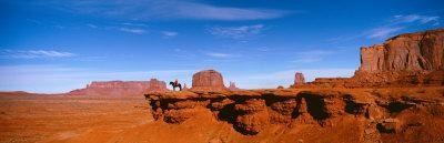 Horse and Rider, Monument Valley, Arizona, USA