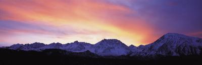 Sunset, Sierra Mountains, California, USA