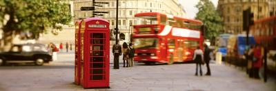 Phone Box, Trafalgar Square Afternoon, London, England, United Kingdom