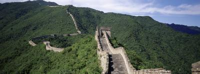 View of the Great Wall of China, China