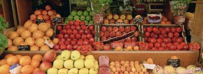 Close-up of Fruits in a Market, Rue De Levy, Paris, France