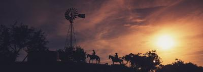 Sunset, Cowboys, Texas, USA