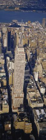 Aerial View of Empire State Building, Manhattan, New York City, New York State, USA