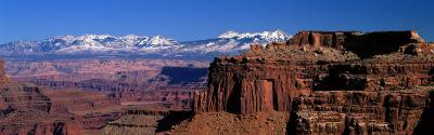 La Sal Mountains Seen from Canyonlands National Park, Utah, USA