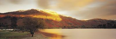 Sunlight on Mountain Range, Ullswater, Lake District, Great Britain, United Kingdom