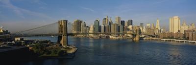 Bridge Across a River, Brooklyn Bridge, New York City, New York State, USA