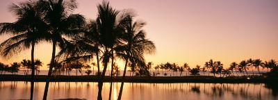 Sunset, Anaehoomalu Beach, Hawaii, USA