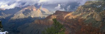 Rainbow and Cloud Over the Mountain, Grand Canyon National Park, Arizona, USA