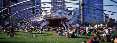 People at a Lawn, Pritzker Pavilion, Millennium Park, Chicago, Illinois, USA