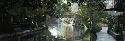 Footbridge Over a Canal, San Antonio, Texas, USA