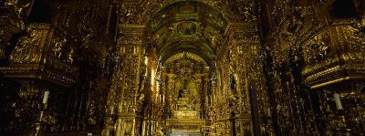 Low Angle View of a Church Interior, Rio De Janeiro, Sao Francisco Da Penitencia, Brazil