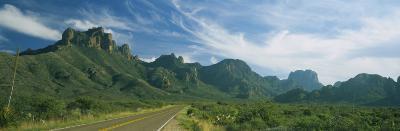 Highway Passing Through a Landscape, Big Bend National Park, Texas, USA