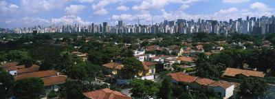 High Angle View of Buildings in a City, Sao Paulo, Brazil