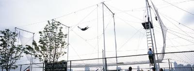 Trapeze School New York, Hudson River Park, New York City, New York State, USA