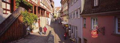 Houses on Both Sides of an Alley, Lake Constance, Meersburg, Baden-Wurttemberg, Germany