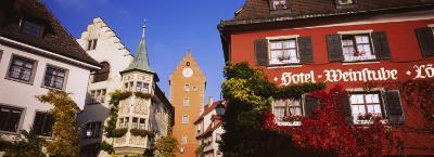 Low Angle View of Buildings in a Town, Lake Constance, Meersburg, Baden-Wurttemberg, Germany