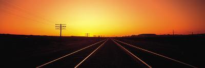 Sunset, Railroad Tracks, Daggett, California, USA