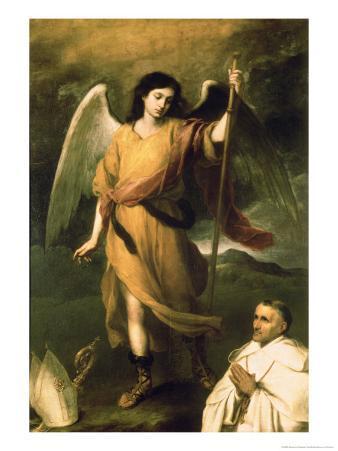 Archangel Raphael with Bishop Domonte