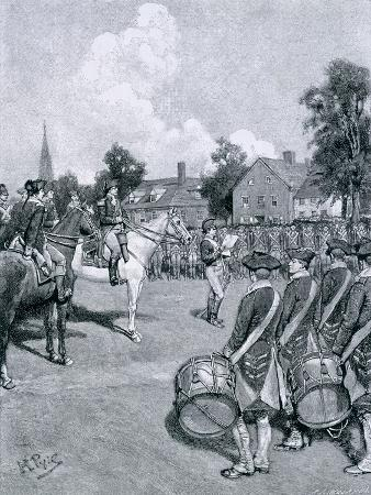 Reading the Declaration Before Washington's Army, New York