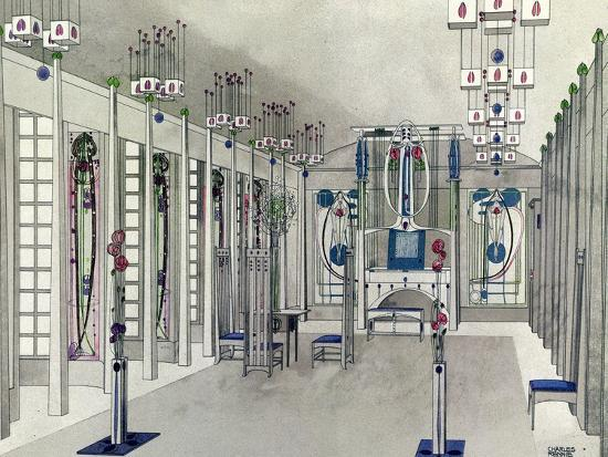 e2eccb36f6f Design for a Music Room with Panels by Margaret Macdonald Mackintosh 1901  Giclee Print by Charles Rennie Mackintosh at AllPosters.com