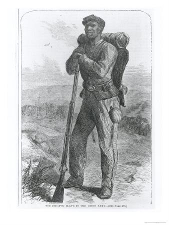 """The Escaped Slave in the Union Army, from """"Harper's Weekly"""", 1864"""