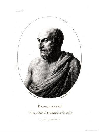 Democritus, Engraved from a Bust in the Vatican Museum