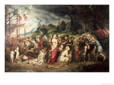 Aeneas Prepares to Lead the Trojans into Exile