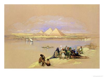 The Pyramids at Giza, Near Cairo