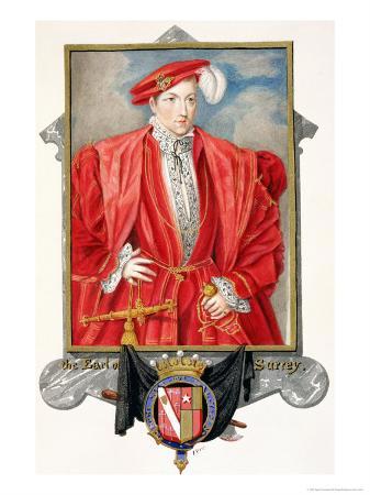 "Portrait of Henry Howard Earl of Surrey from ""Memoirs of the Court of Queen Elizabeth"""